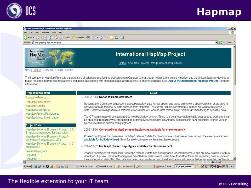 © OCS Consulting Hapmap
