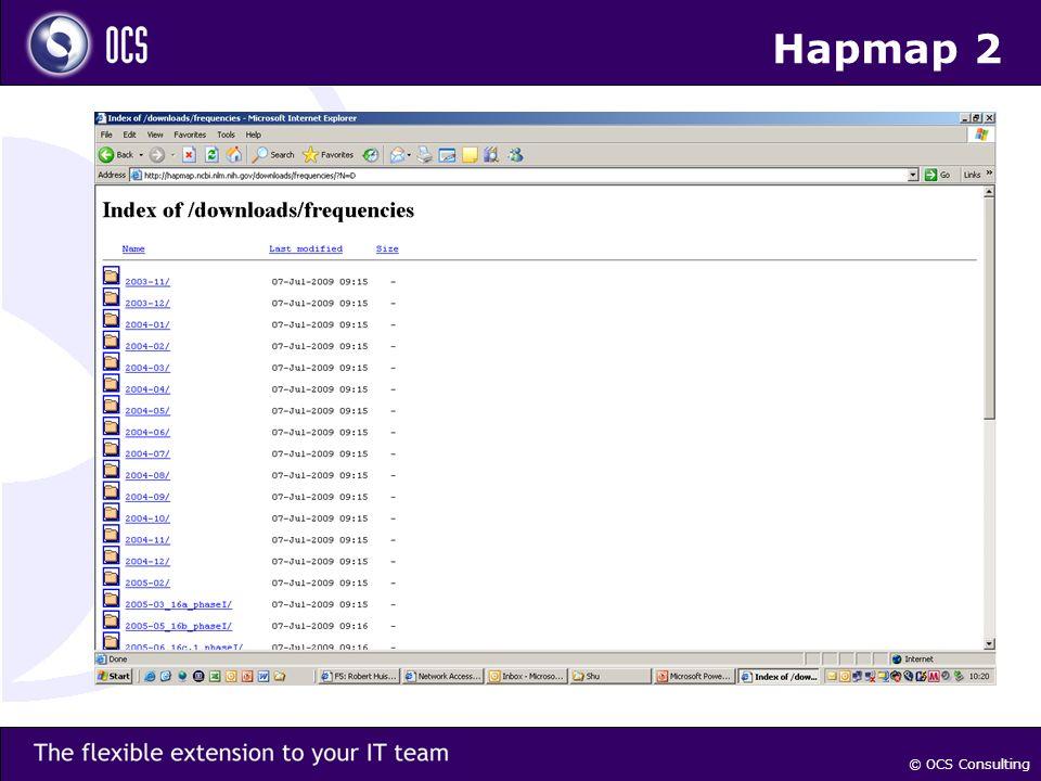 © OCS Consulting Hapmap 2