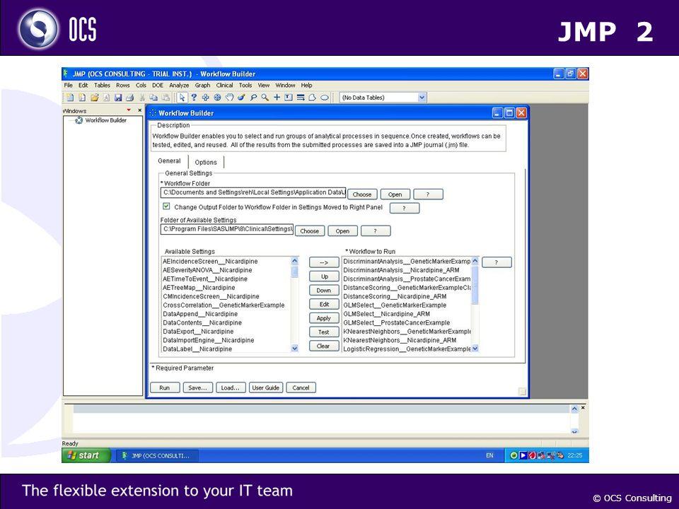 © OCS Consulting JMP 2