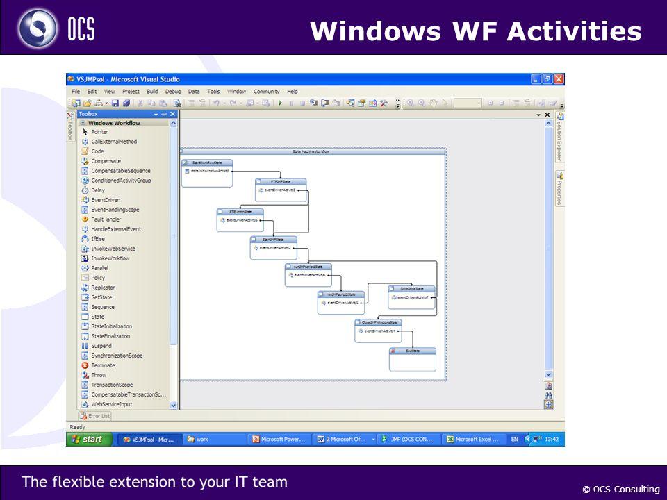 © OCS Consulting Windows WF Activities
