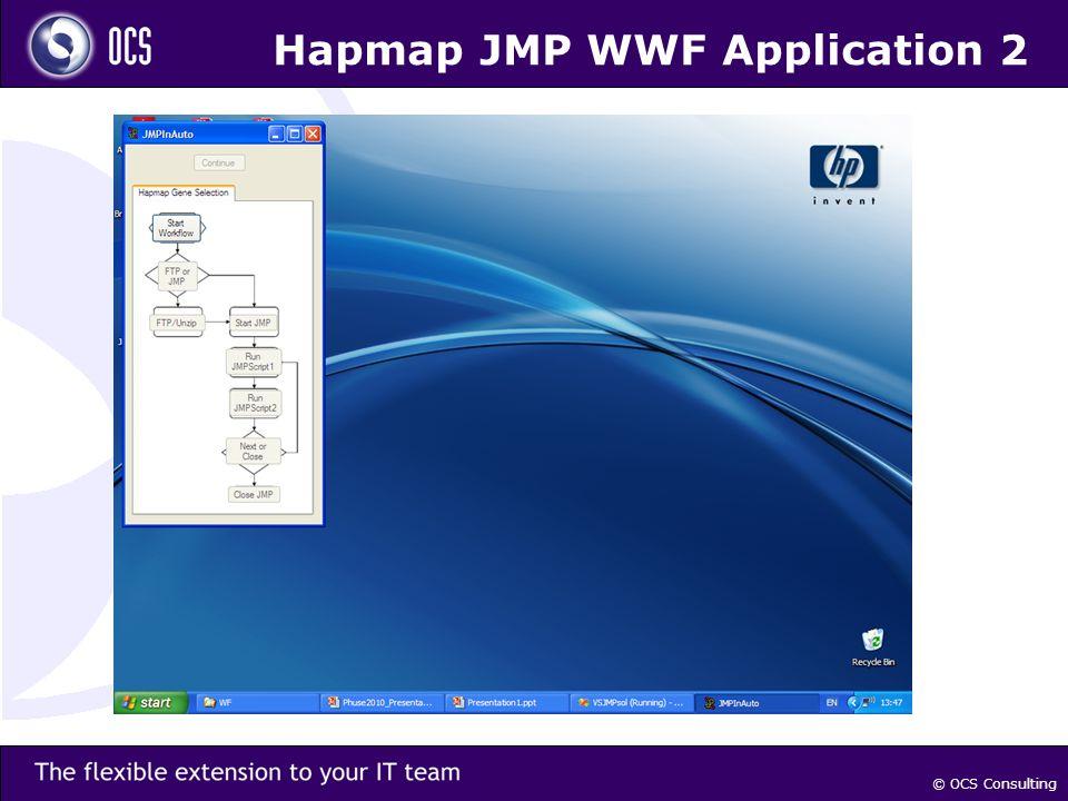 © OCS Consulting Hapmap JMP WWF Application 2