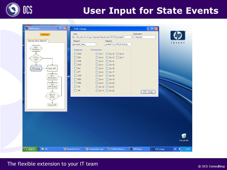 © OCS Consulting User Input for State Events