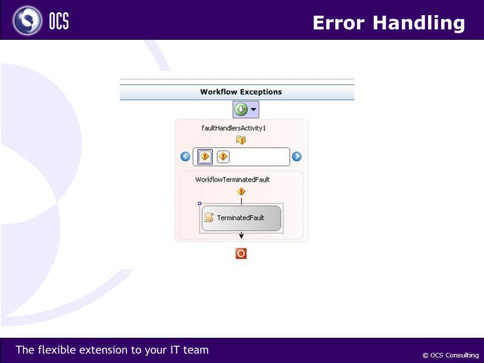 © OCS Consulting Error Handling