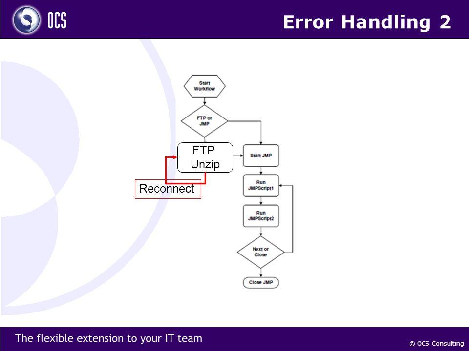 © OCS Consulting Error Handling 2 FTP Unzip Reconnect