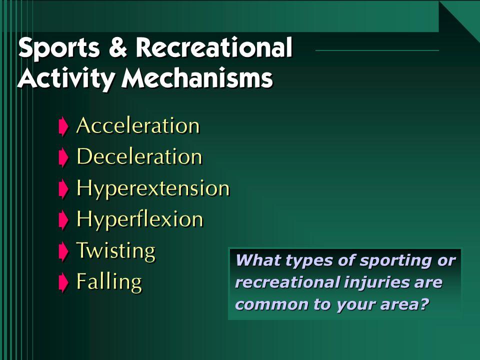 Acceleration Deceleration Hyperextension Hyperflexion Twisting Falling Acceleration Deceleration Hyperextension Hyperflexion Twisting Falling Sports &