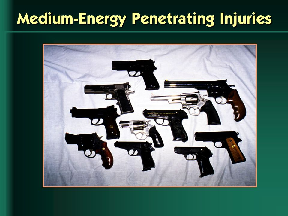 Medium-Energy Penetrating Injuries