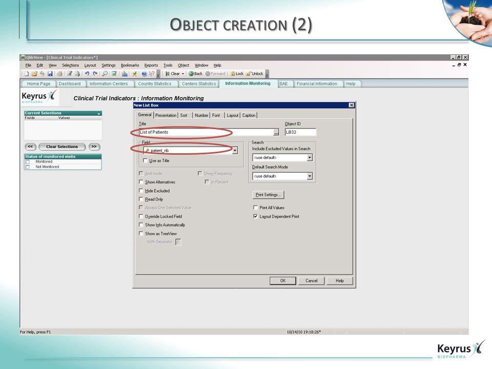 O BJECT CREATION (2)