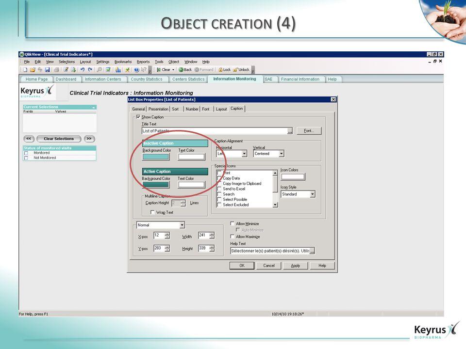 O BJECT CREATION (4)