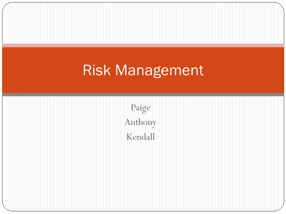 4 strategies for a risk management plan Accept the risk Accept that there will be a negative impact Avoid the risk Change your plans to avoid the problem Mitigate the risk Lessens the impact of the risk Transfer the risk