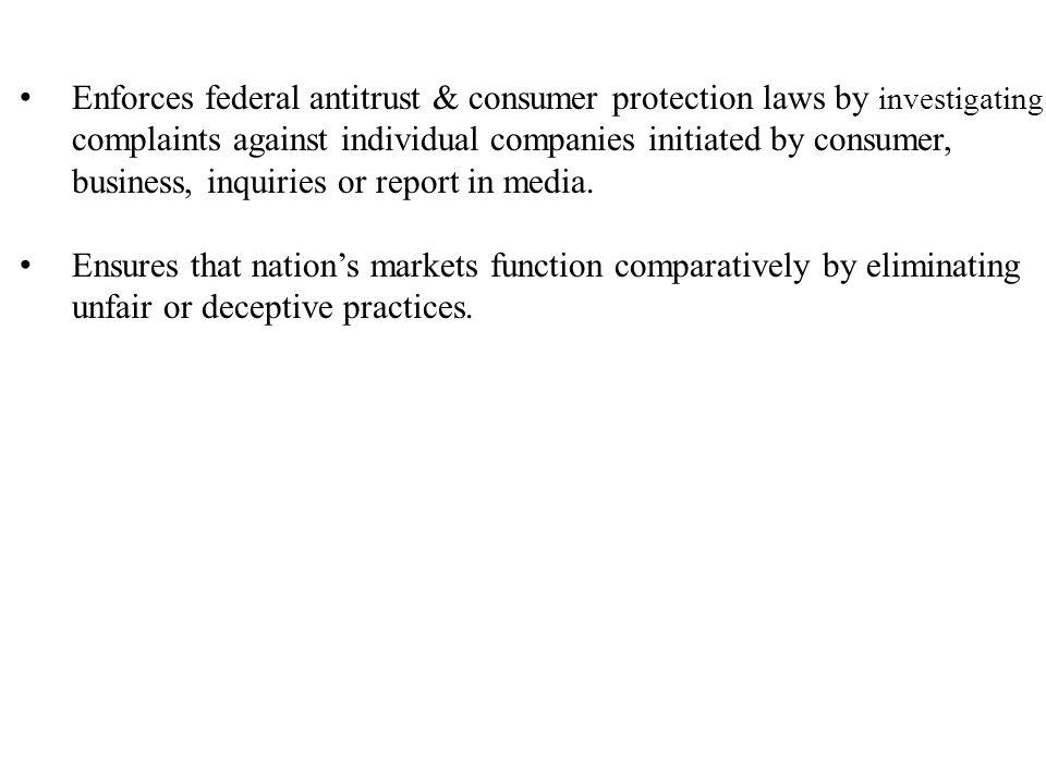 2)FDA : under jurisdiction of the deptt.Of Health & Human services.
