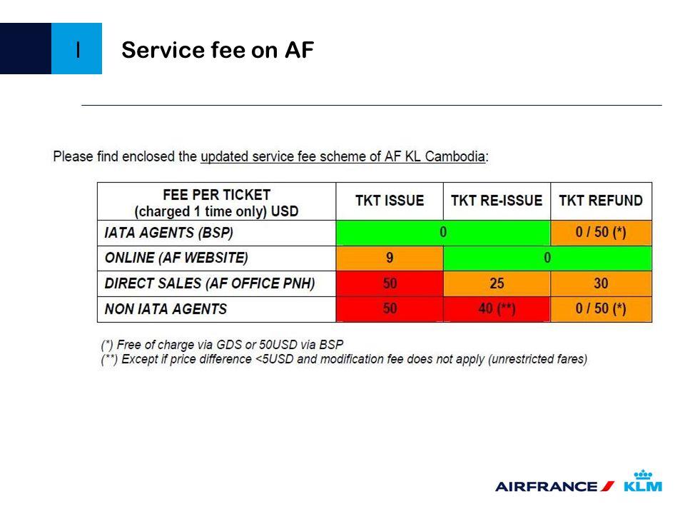 I Service fee on AF