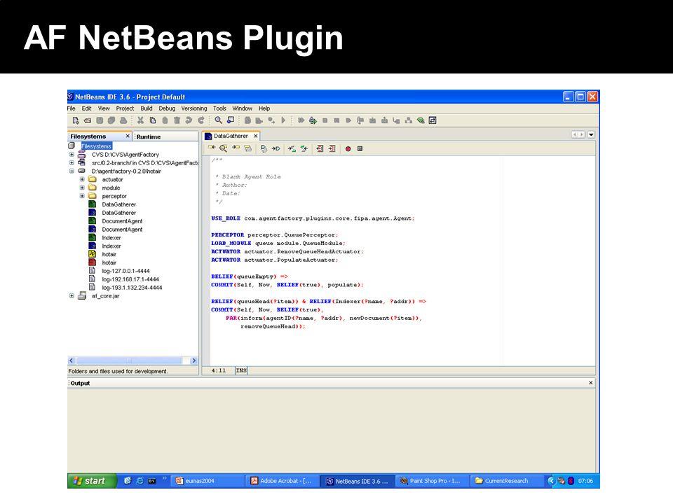 2003 © ChangingWorlds Ltd. AF NetBeans Plugin