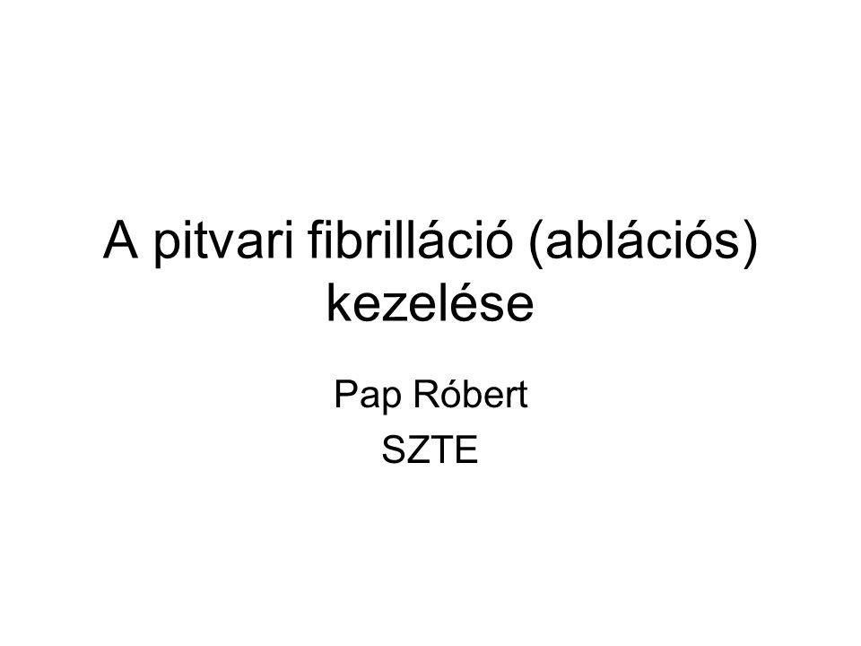 A pitvari fibrilláció (ablációs) kezelése Pap Róbert SZTE