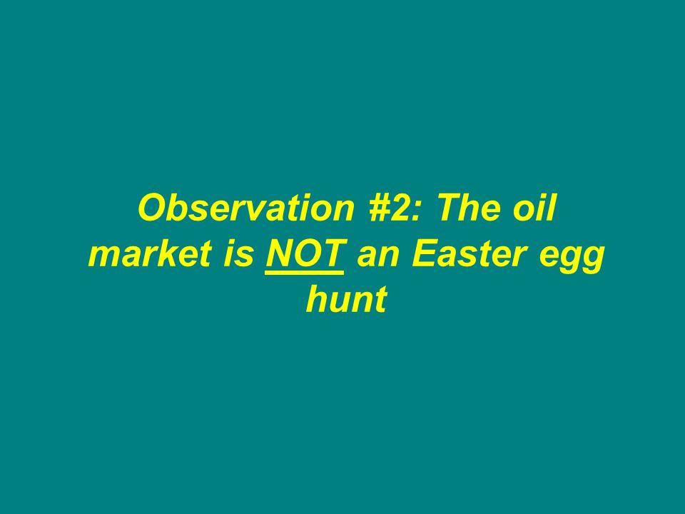 Observation #2: The oil market is NOT an Easter egg hunt