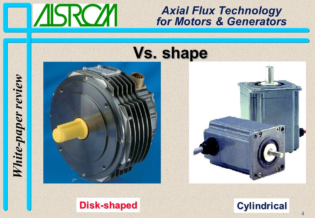 15 White-paper review Axial Flux Technology for Motors & Generators Stator Core Active coil part Internal overhang External overhang
