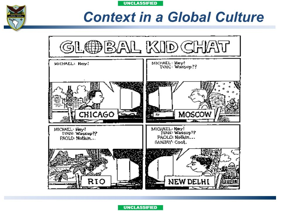 UNCLASSIFIED Context in a Global Culture