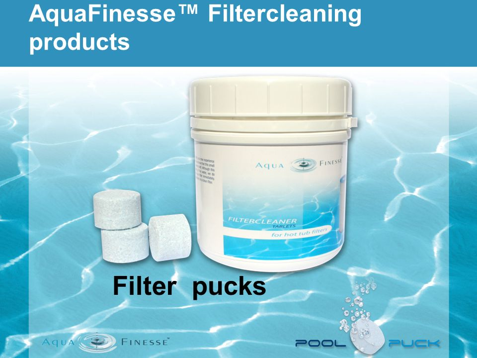 AquaFinesse Filtercleaning products Filter pucks