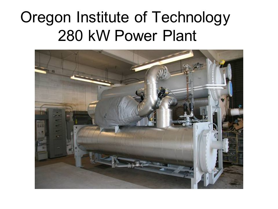 Oregon Institute of Technology 280 kW Power Plant
