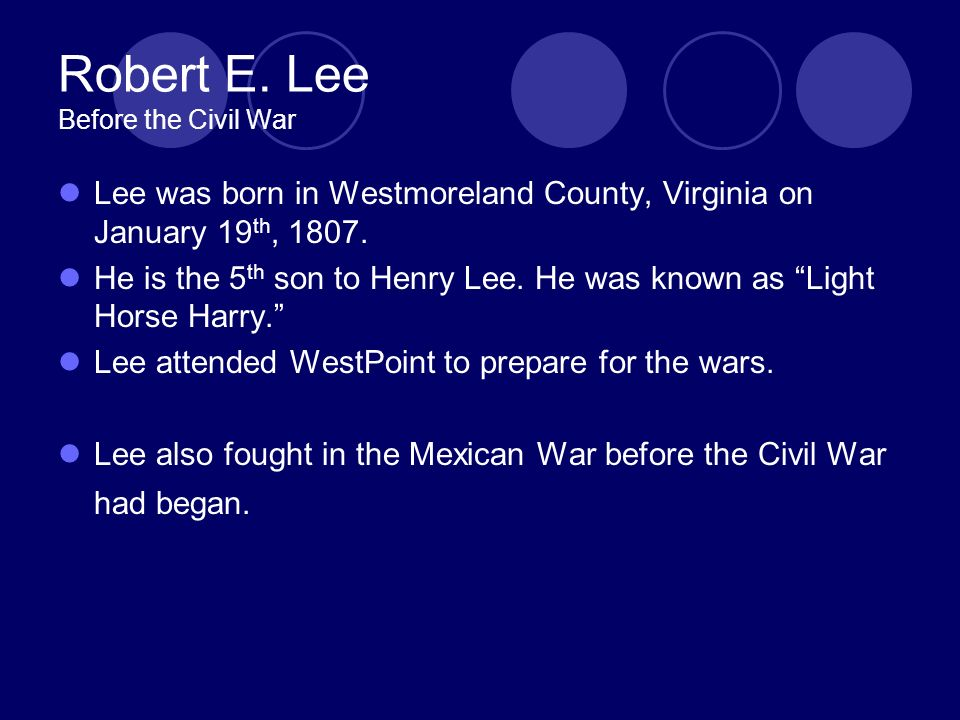 Robert E.Lee During The Civil War Robert E.