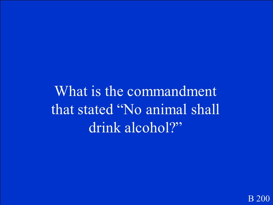 This commandment was revised in the eighth chapter after Napoleon was thought to be dying B 200