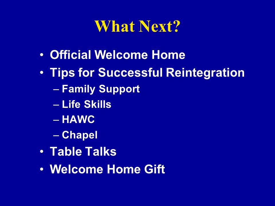 RETURN READJUSTMENT REINTEGRATION Family Support Center 2-3327 3 RS of REUNION