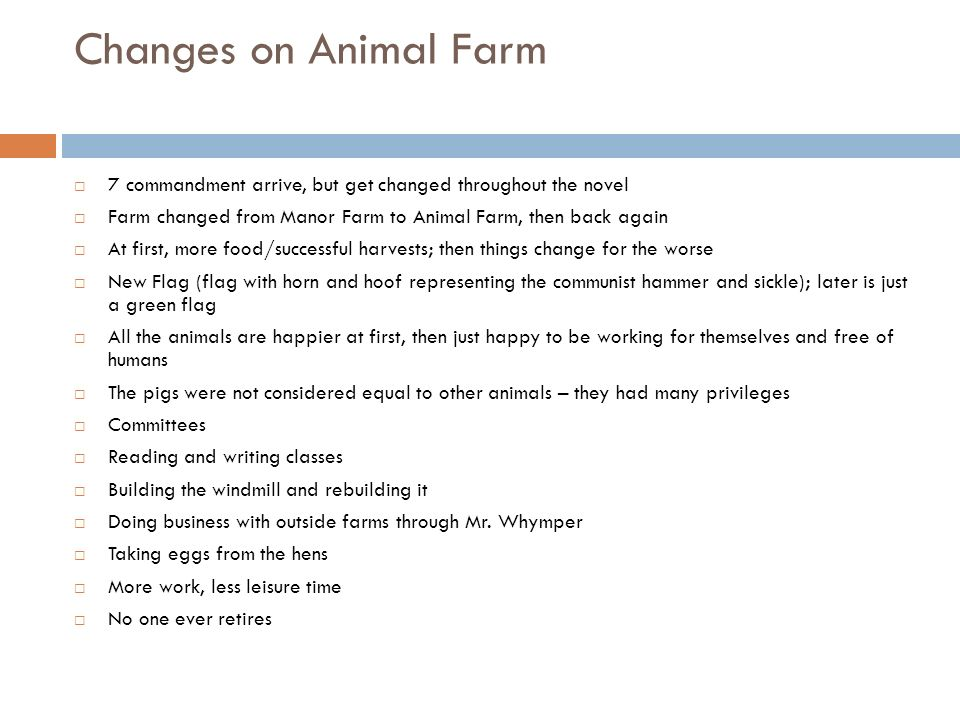 Possible Essay Question On Animal Farm
