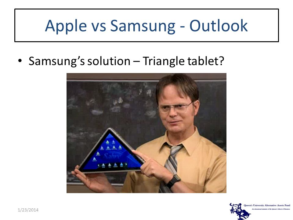 Apple vs Samsung - Outlook Samsungs solution – Triangle tablet? 1/23/2014