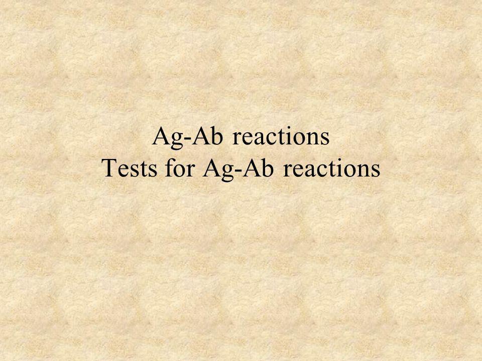 Nature of Ag/Ab Reactions Lock and Key Concept Non-covalent Bonds – Hydrogen bonds – Electrostatic bonds – Van der Waal forces – Hydrophobic bonds Reversible Multiple Bonds Source: Li, Y., Li, H., Smith-Gill, S.