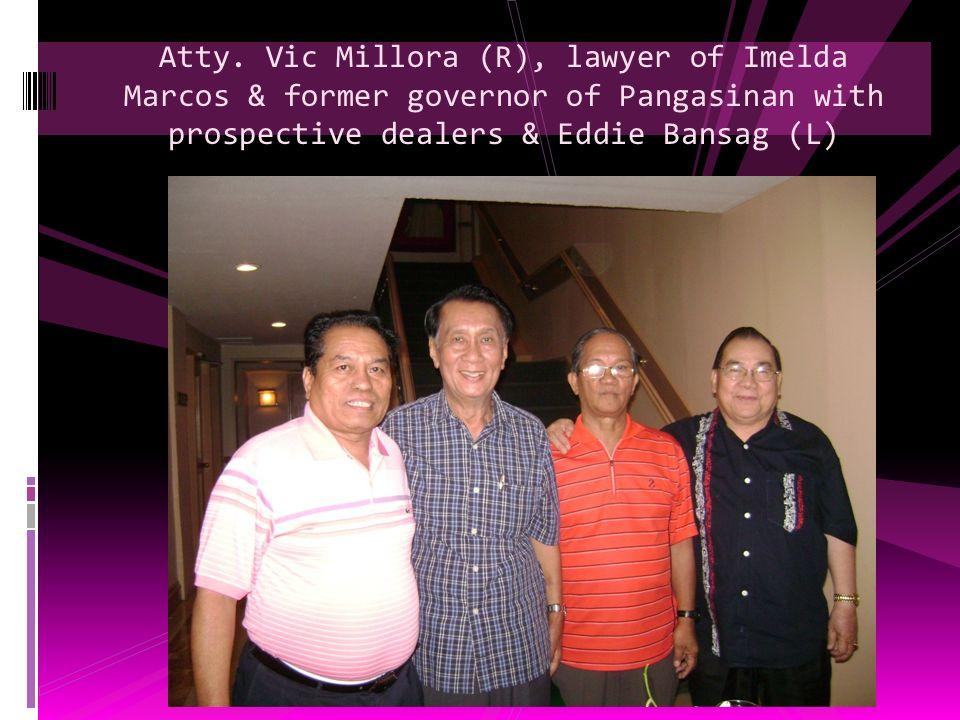 Senator Nene Pimentel endorsing Powdered Soiltac with Eddie Bansag
