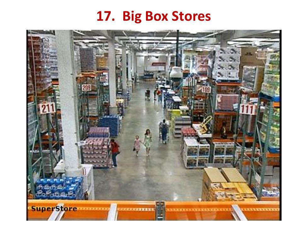 17. Big Box Stores