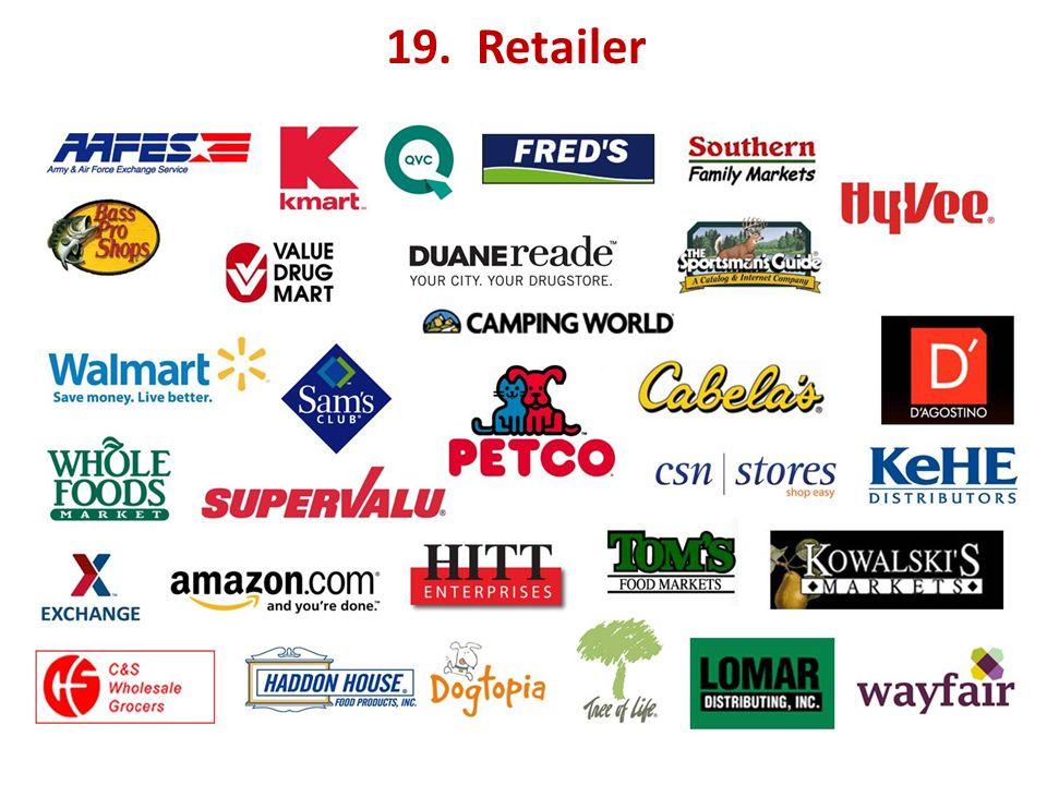 19. Retailer