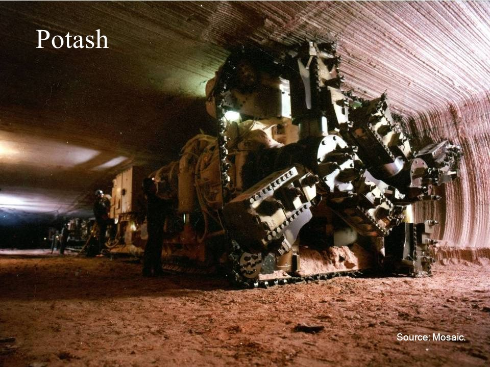 Potash Source: Mosaic.