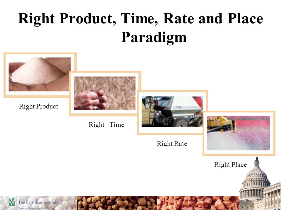 Right Product, Time, Rate and Place Paradigm Right Place Right Product Right Rate Right Time