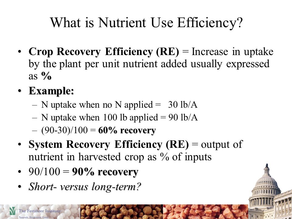 What is Nutrient Use Efficiency.