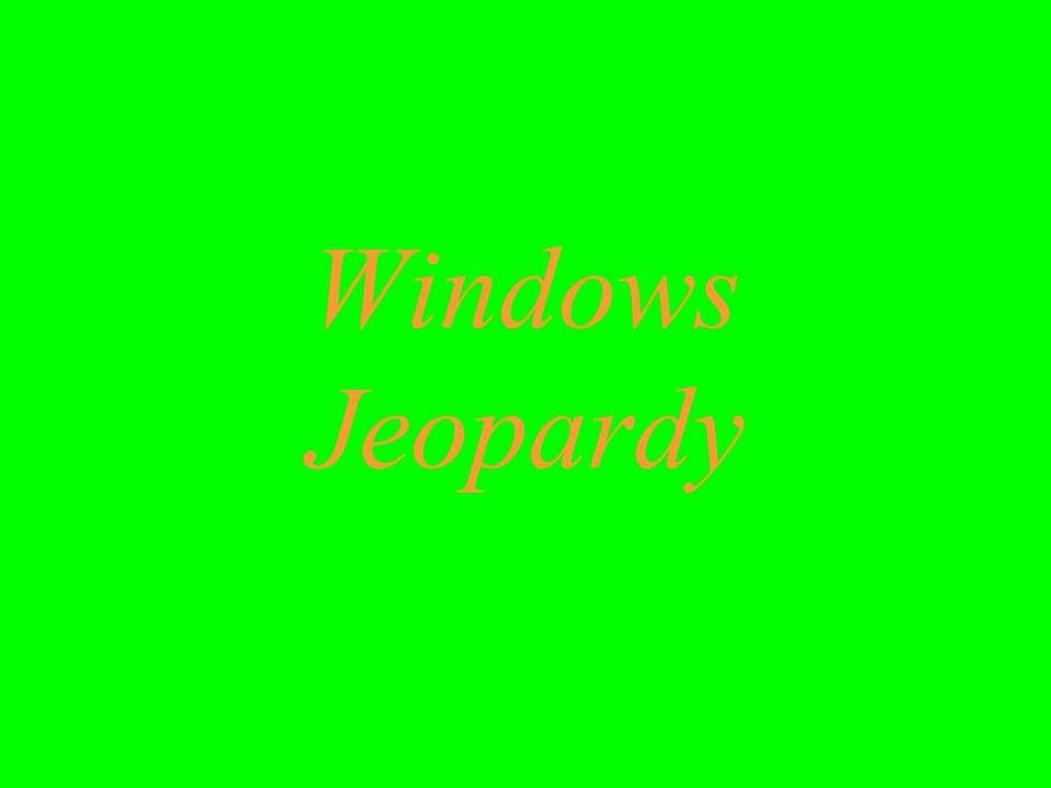 Windows Jeopardy