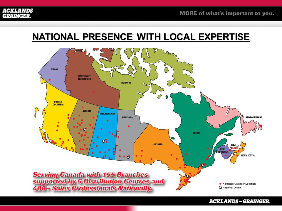 NATIONAL PRESENCE WITH LOCAL EXPERTISE