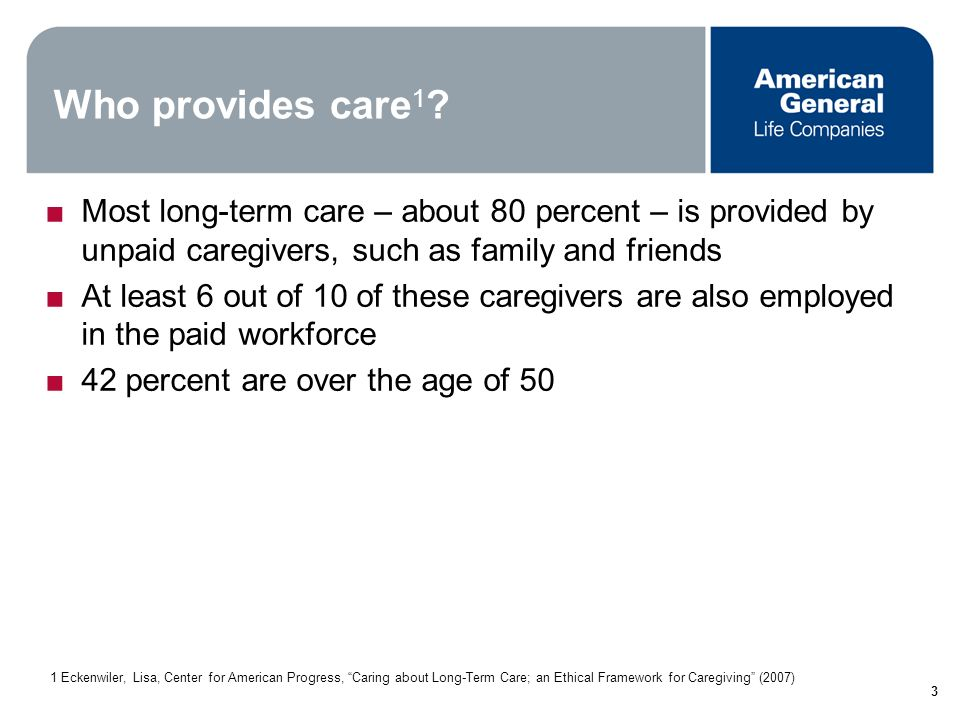 2 What exactly is long term care.