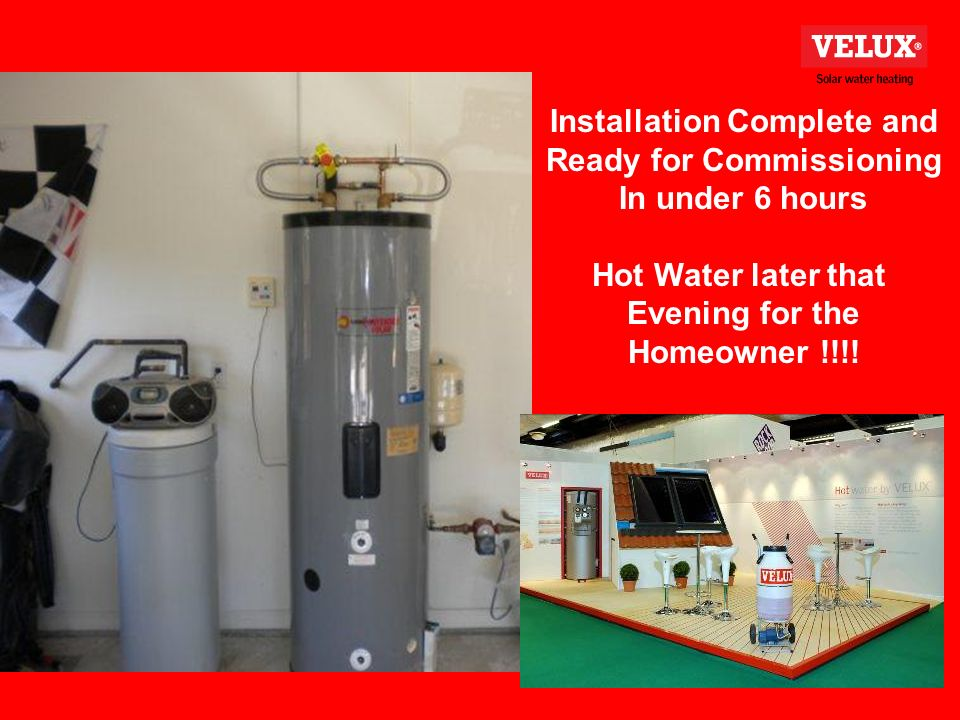Installation Complete and Ready for Commissioning In under 6 hours Hot Water later that Evening for the Homeowner !!!!