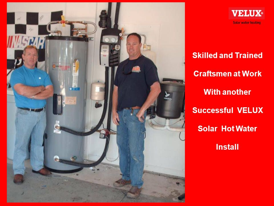 Skilled and Trained Craftsmen at Work With another Successful VELUX Solar Hot Water Install