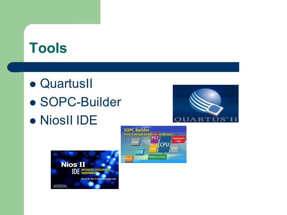 Tools QuartusII SOPC-Builder NiosII IDE
