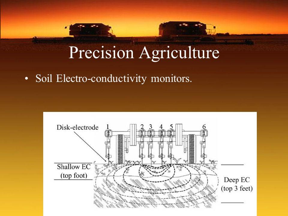 Precision Agriculture Soil Electro-conductivity monitors.