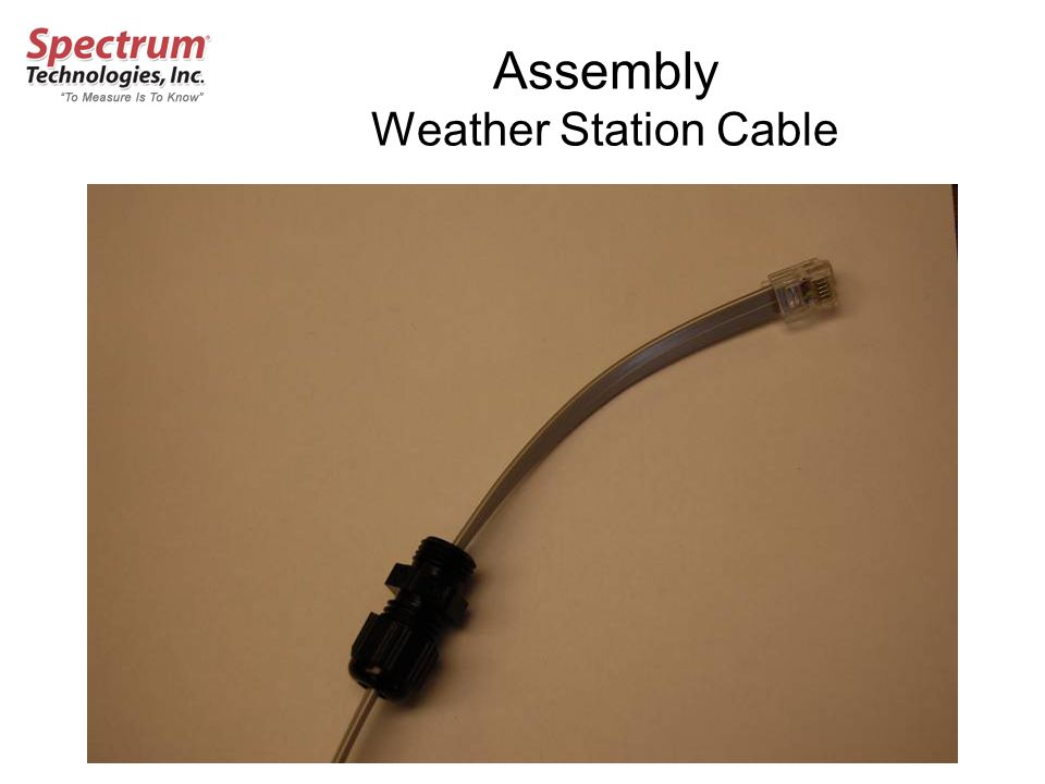 Assembly Weather Station Cable