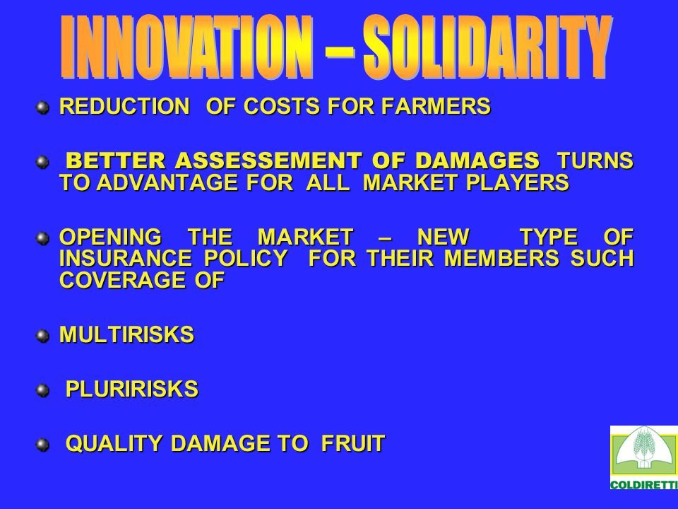 REDUCTION OF COSTS FOR FARMERS BETTER ASSESSEMENT OF DAMAGES TURNS TO ADVANTAGE FOR ALL MARKET PLAYERS BETTER ASSESSEMENT OF DAMAGES TURNS TO ADVANTAG