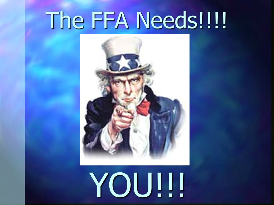 The FFA Needs!!!! YOU!!!