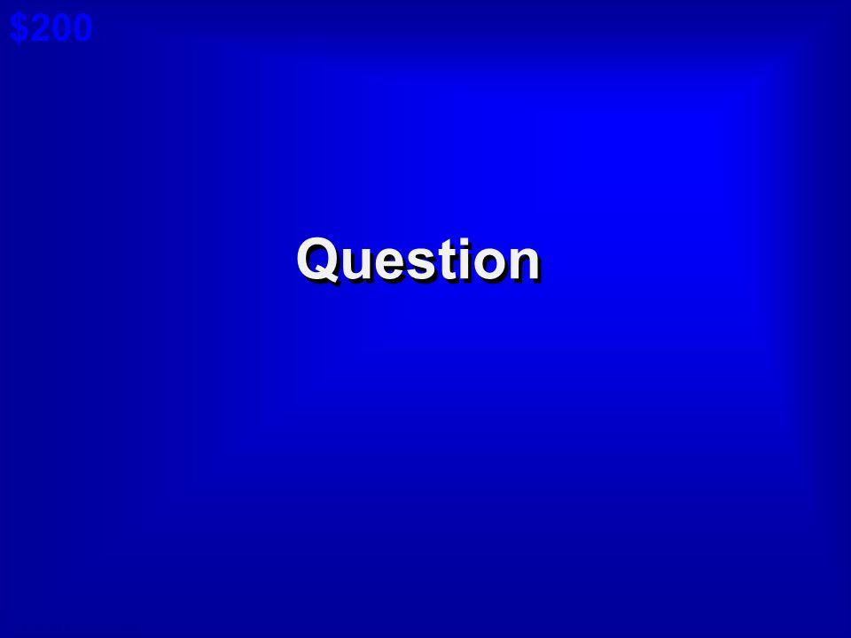 © David A. Occhino Answer $100 Cat 6: $100 A Board