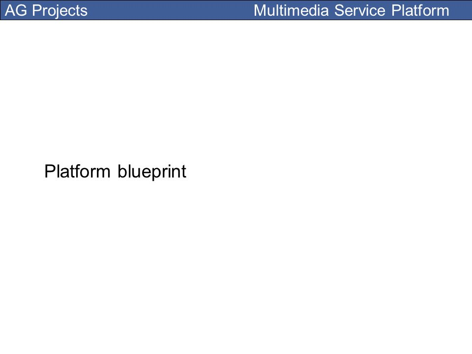 AG Projects Multimedia Service Platform Platform blueprint