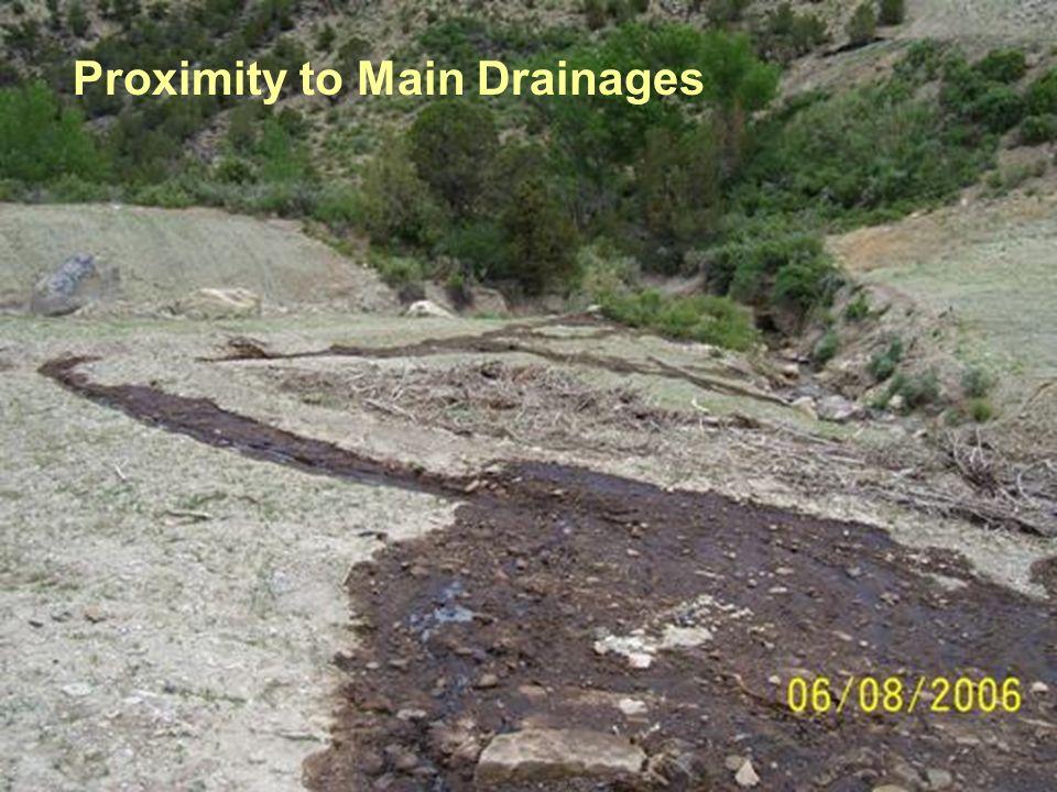 Proximity to Main Drainages