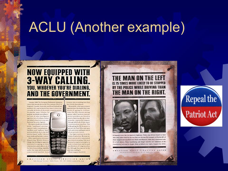 ACLU (Another example)