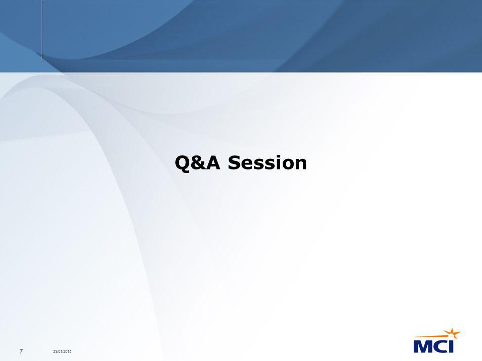 23/01/2014 7 Q&A Session