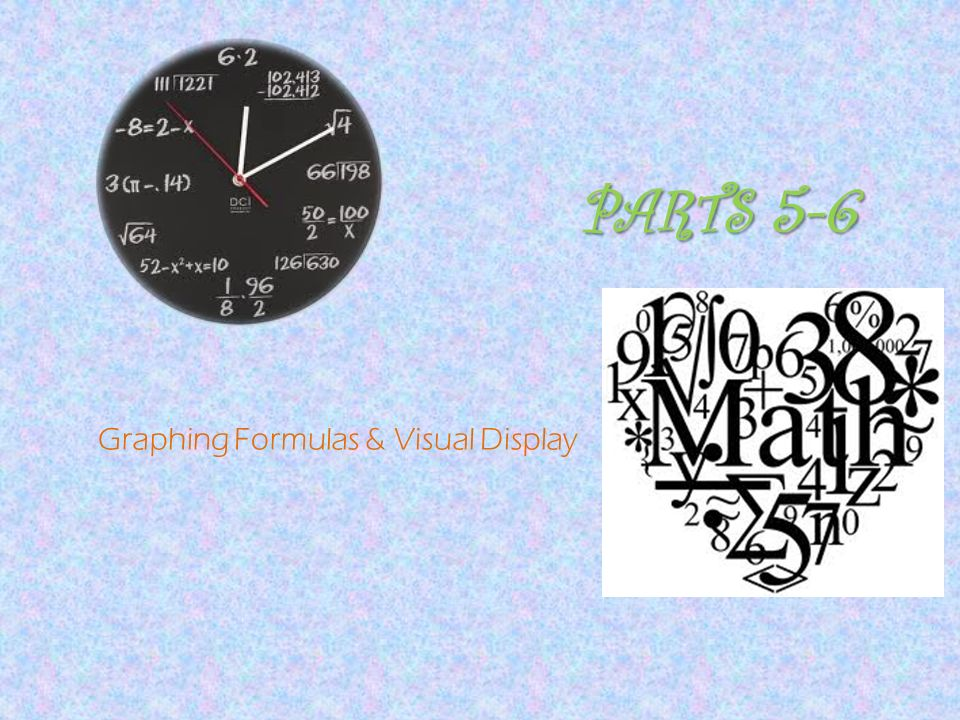 PARTS 5-6 Graphing Formulas & Visual Display